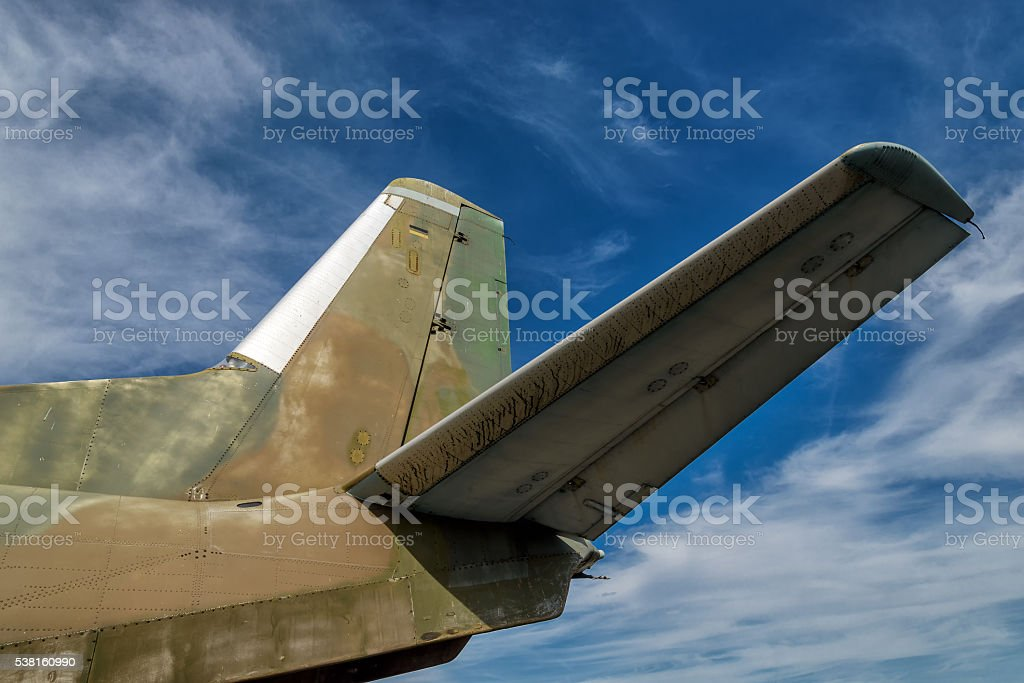 Tail unit stock photo