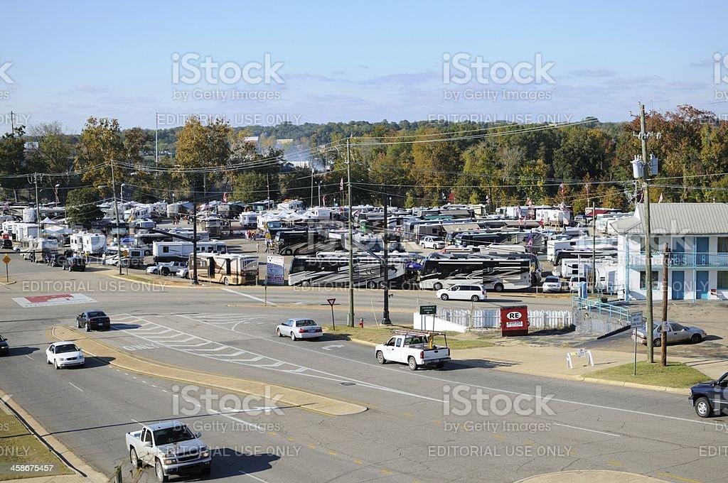 Tailgating in Tuscaloosa stock photo