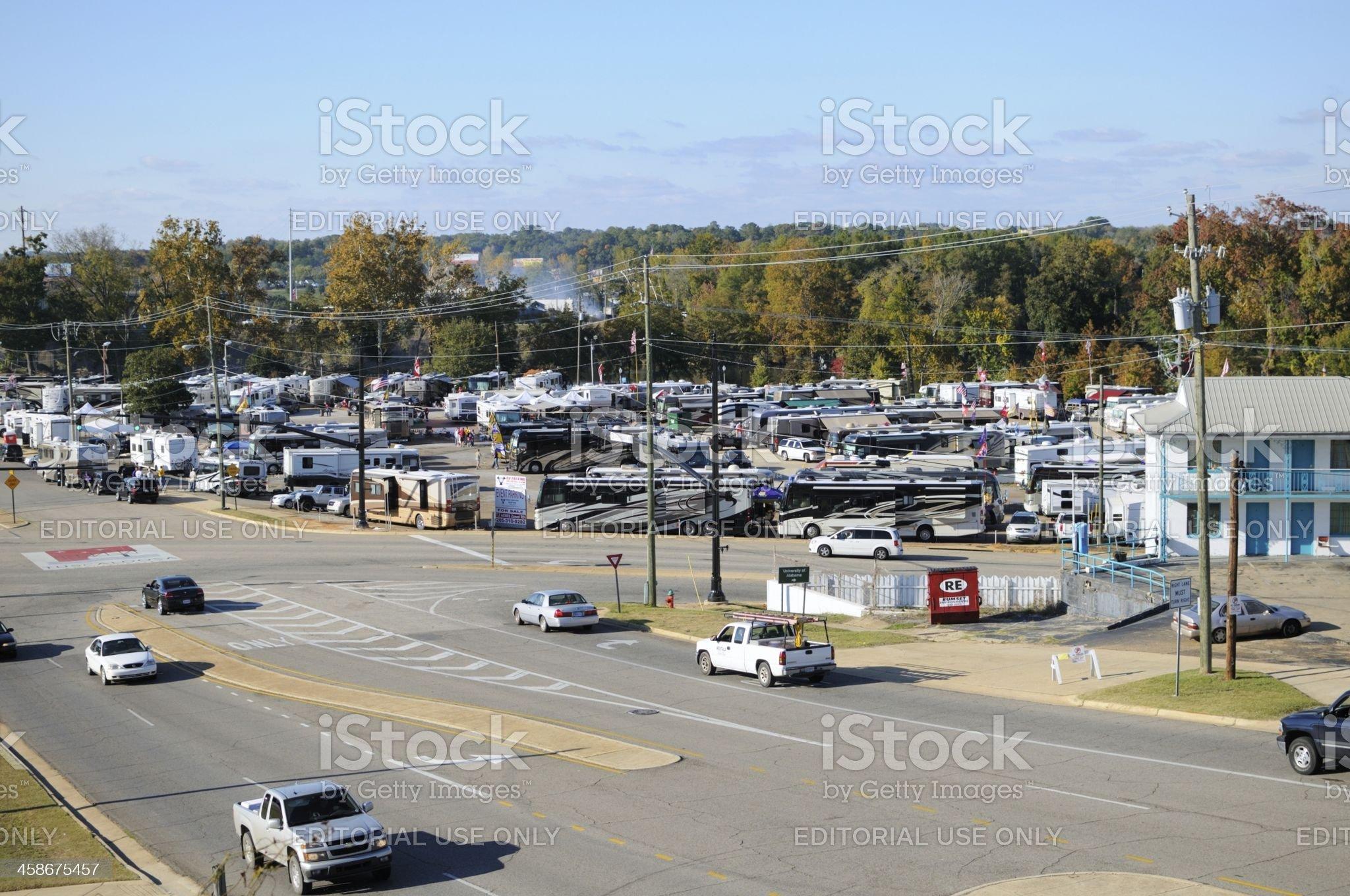 Tailgating in Tuscaloosa royalty-free stock photo