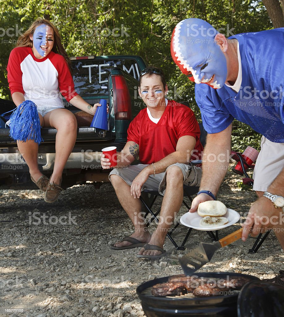 tailgating royalty-free stock photo