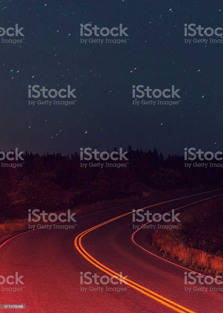 Tailights to the South stock photo