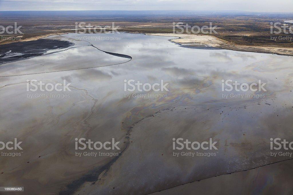 Tailings Pond stock photo