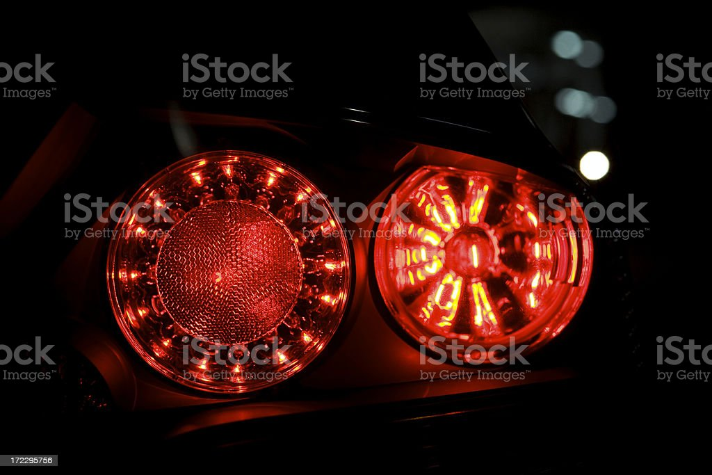 Taillights royalty-free stock photo