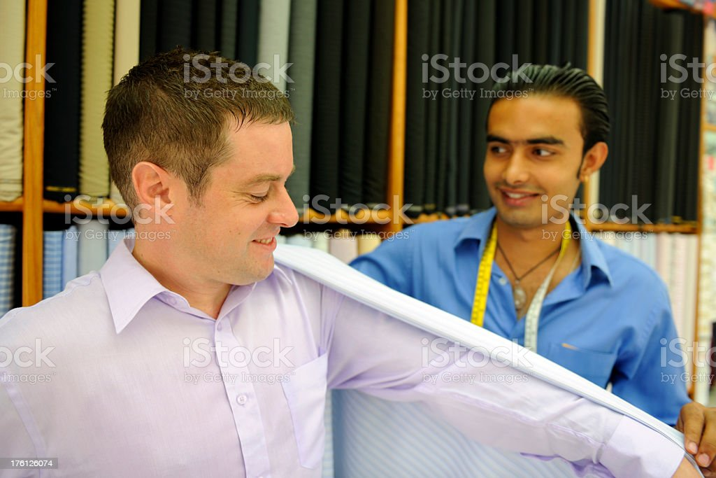 Tailor and Cloth royalty-free stock photo