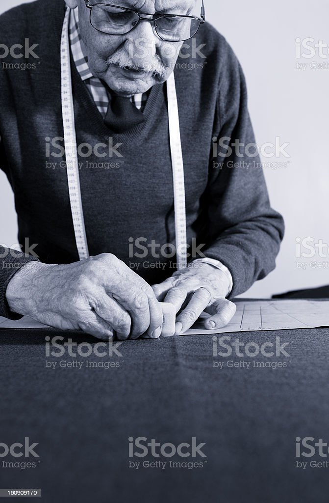 Tailor At Work royalty-free stock photo