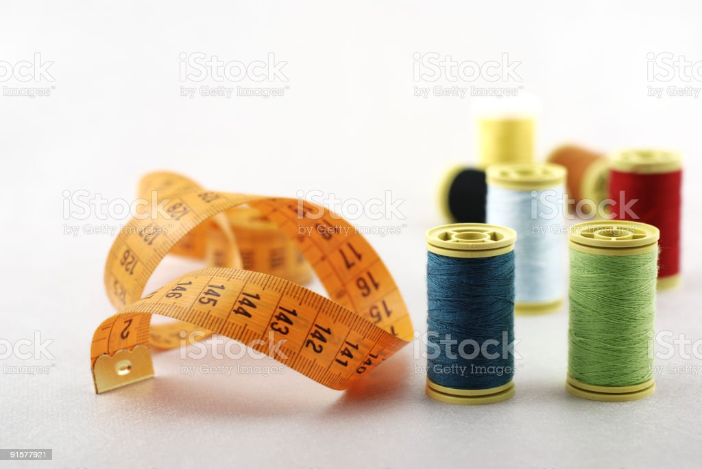 Tailor materials royalty-free stock photo