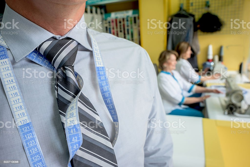 Tailor running a successful business stock photo