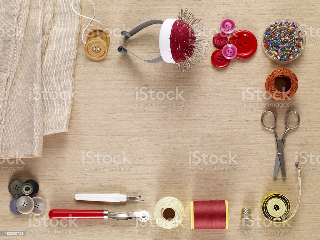 Tailor Tools royalty-free stock photo