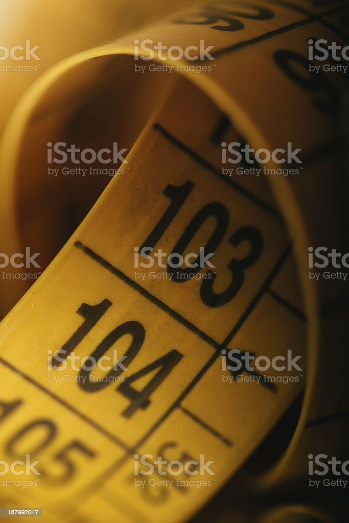 Tailor Yellow Measuring Tape stock photo
