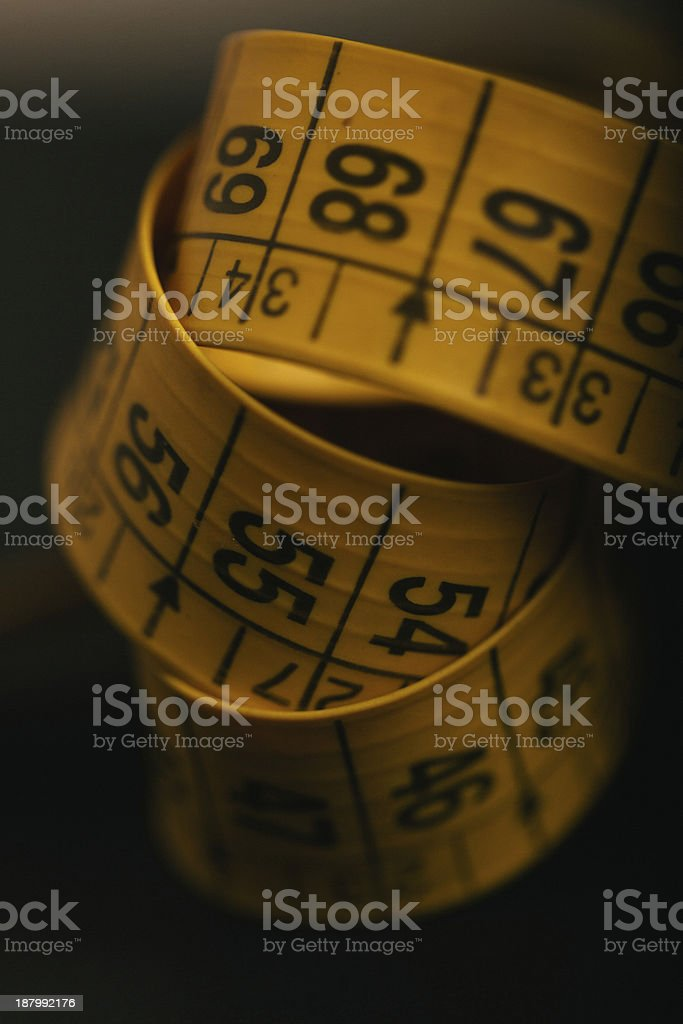 Tailor Yellow Measuring Tape royalty-free stock photo