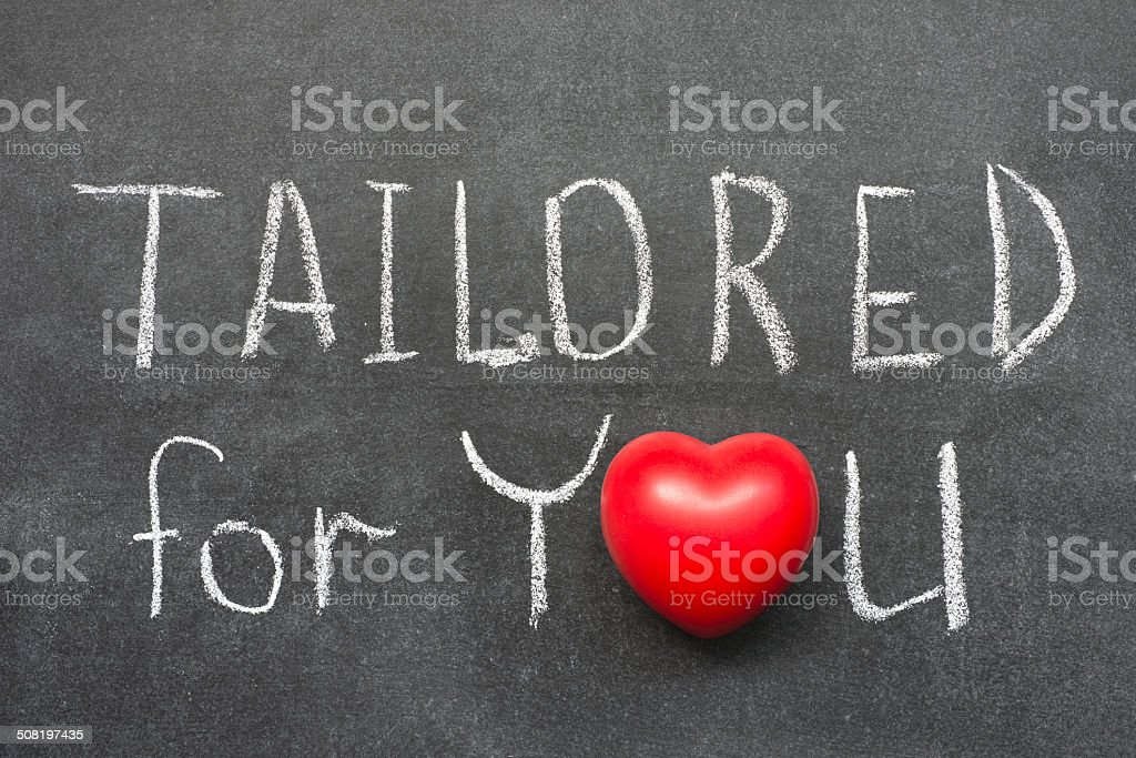 tailored for you stock photo