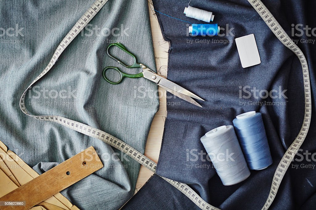 Tailoring objects stock photo