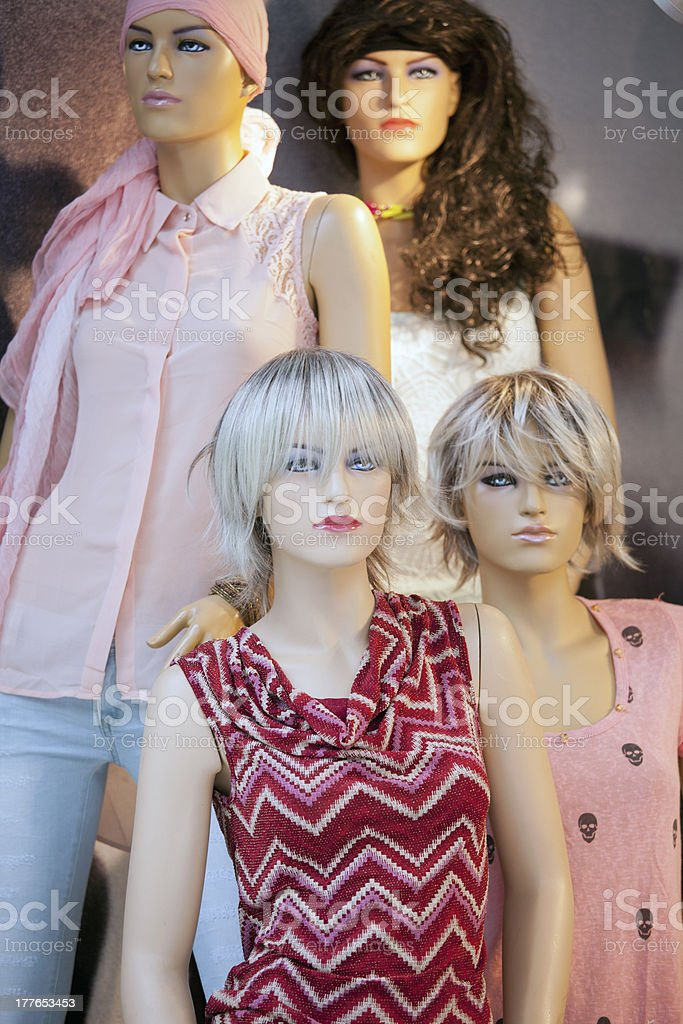 Tailor's dummy mannequins royalty-free stock photo