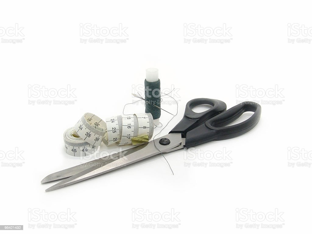tailor's kit royalty-free stock photo