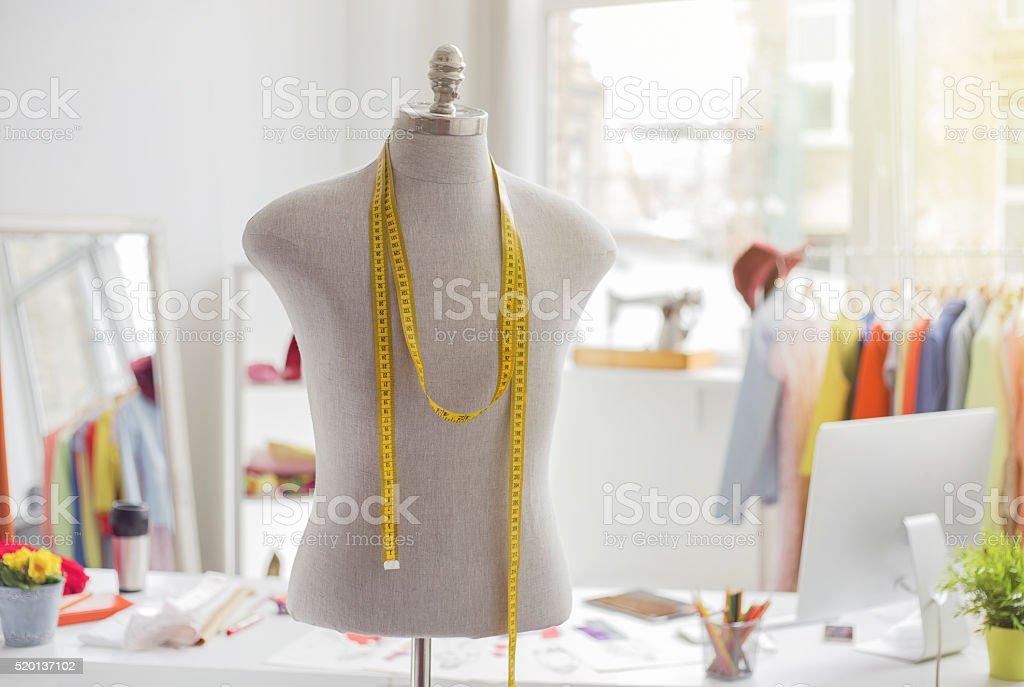 Tailors office stock photo