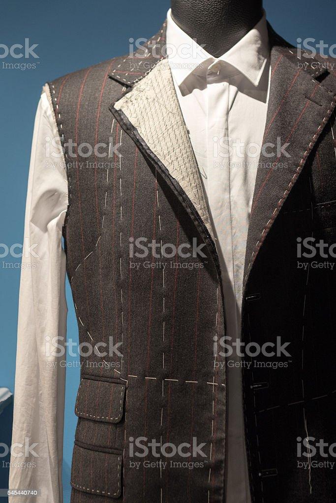 Tailors Suit on Dummy stock photo
