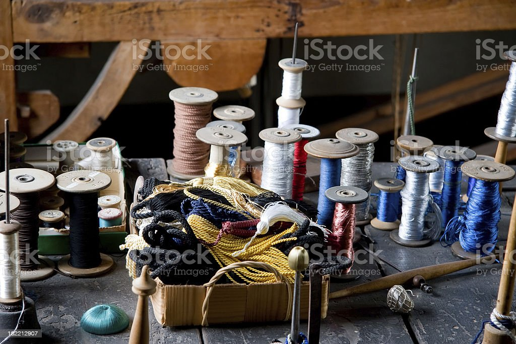Tailor's workshop royalty-free stock photo