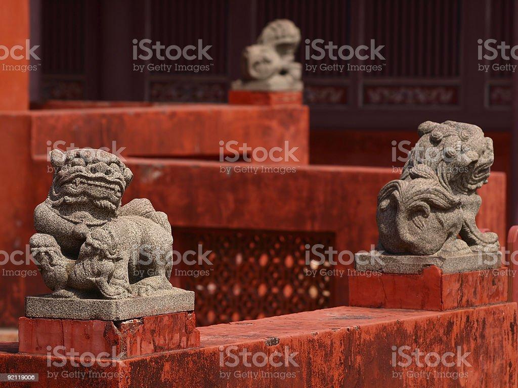 Tainan Confucius Temple Lion stock photo