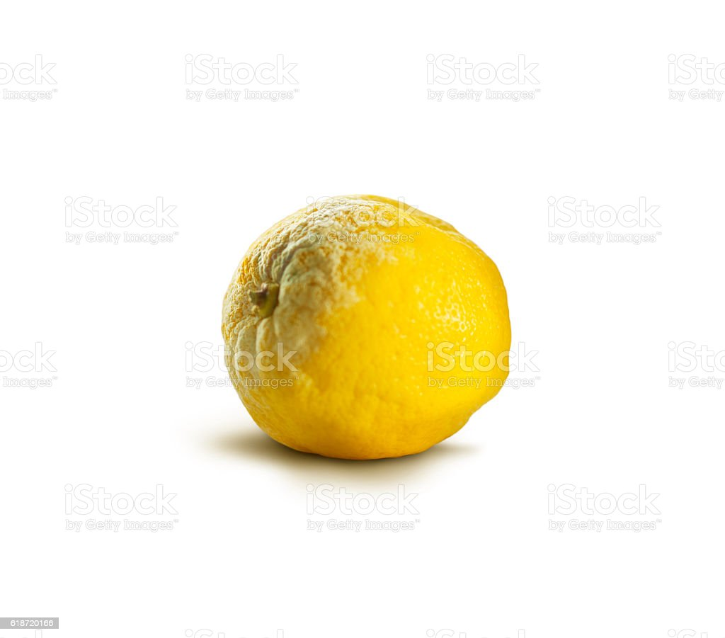 Tainted lemon stock photo