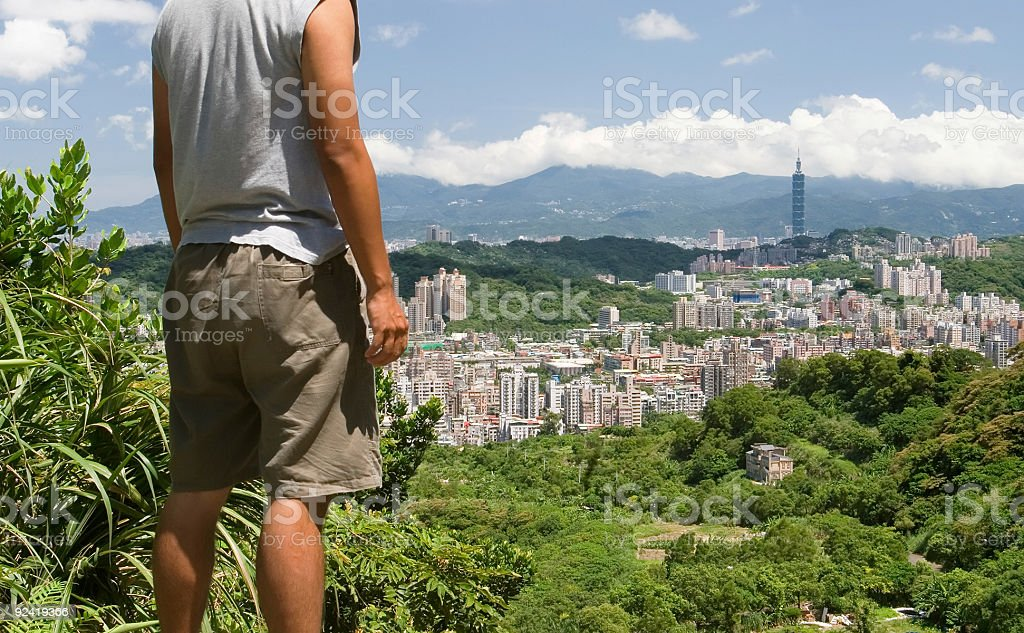 Taipei city and citizen royalty-free stock photo