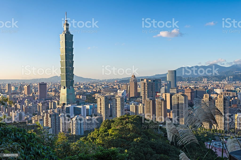 Taipei city in the afternoon stock photo