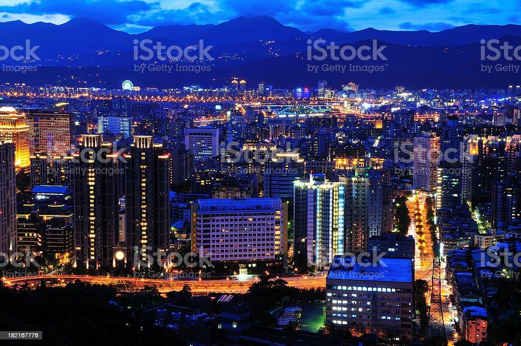 Taipei City in Twilight royalty-free stock photo