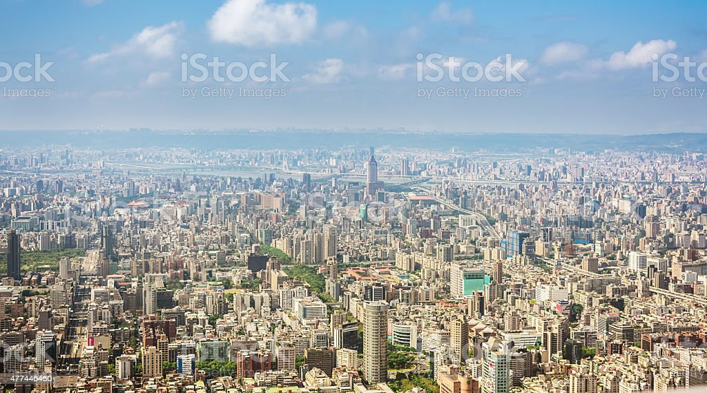 Taipei Cityscape by Day View from the 101, Taiwan stock photo