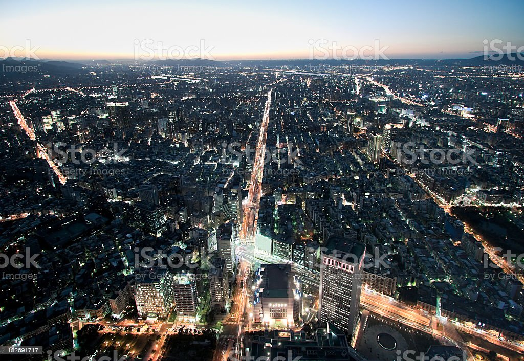 Taipei Cityscape From Above stock photo