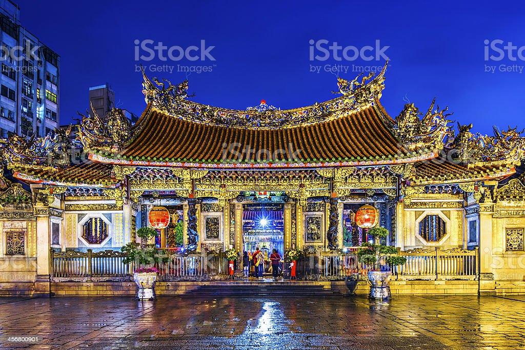 Taipei Longshan Temple stock photo