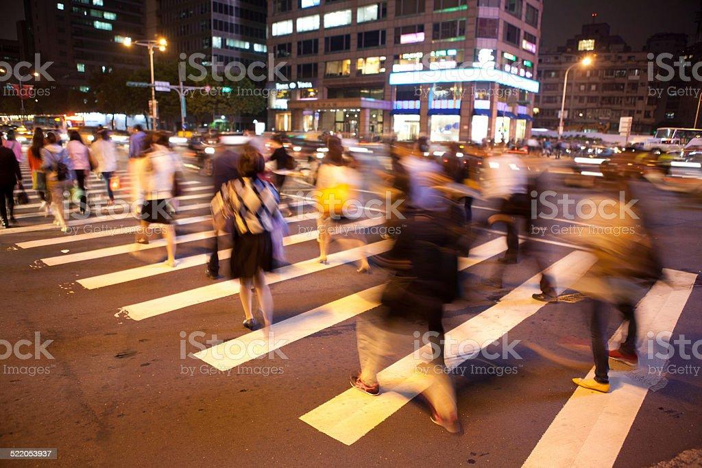Taipei Night Street stock photo