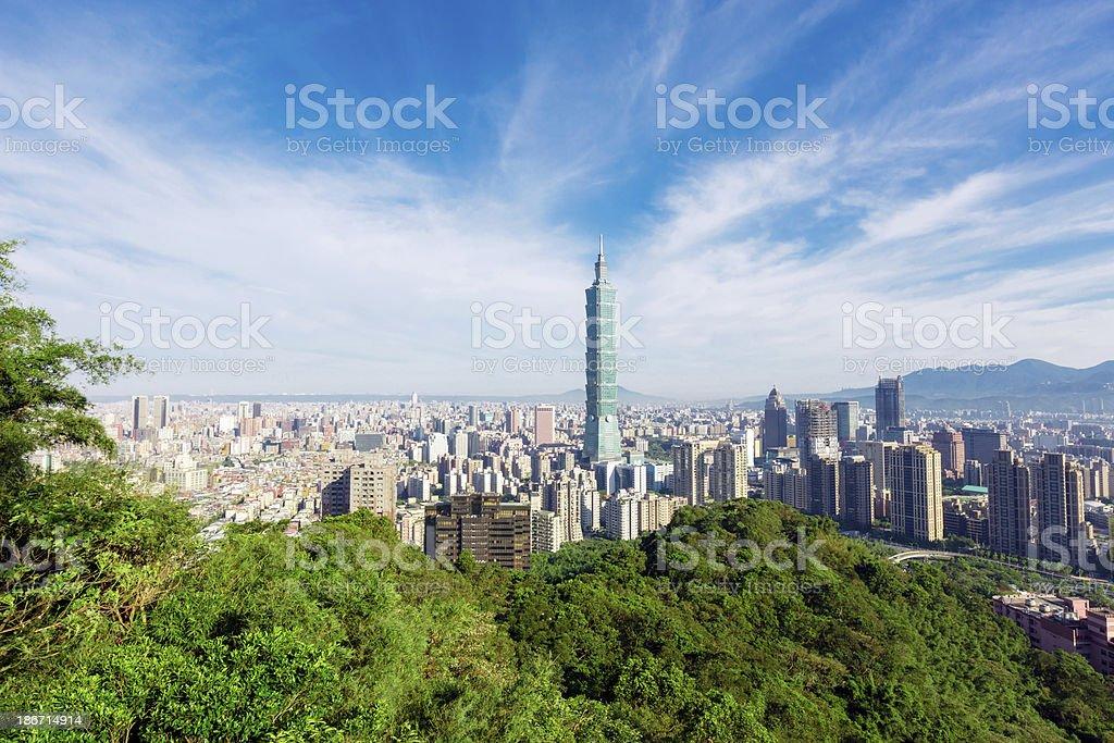 Taipei Panorama royalty-free stock photo