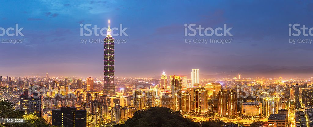 Taipei skyline Panorama stock photo