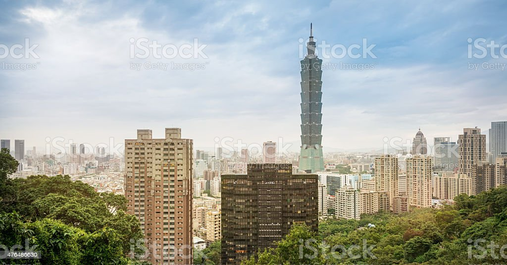 Taipei Skyline, Summer Cityscape by Day, Taiwan stock photo