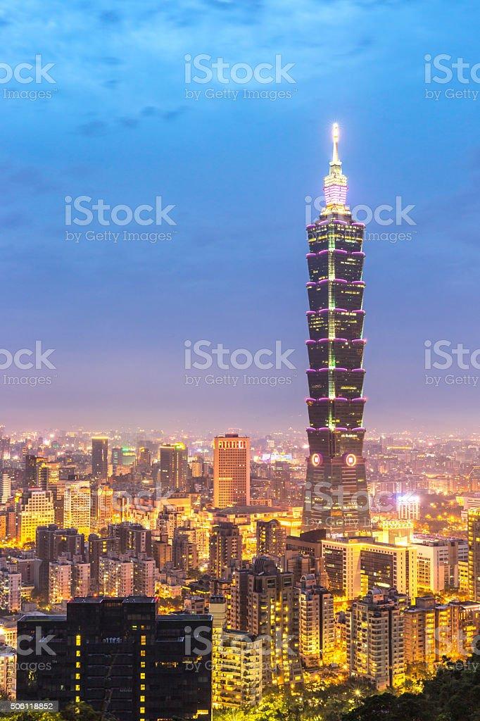 Taipei, Taiwan skylines stock photo