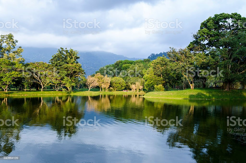 Taiping lake garden at sunset, Taiping, Malaysia stock photo