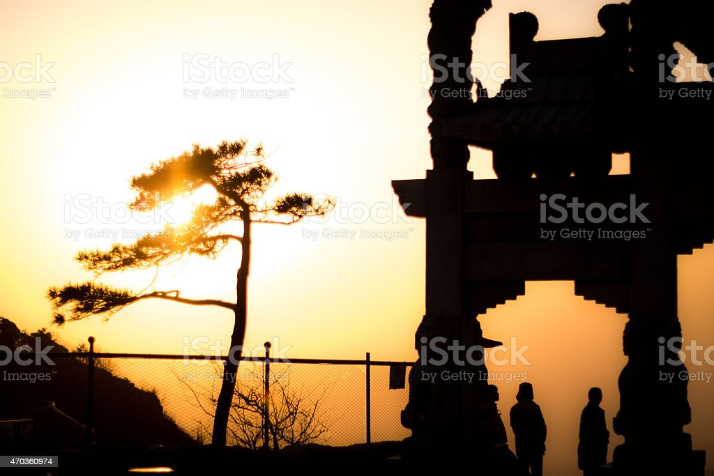 Taishan mountains stock photo