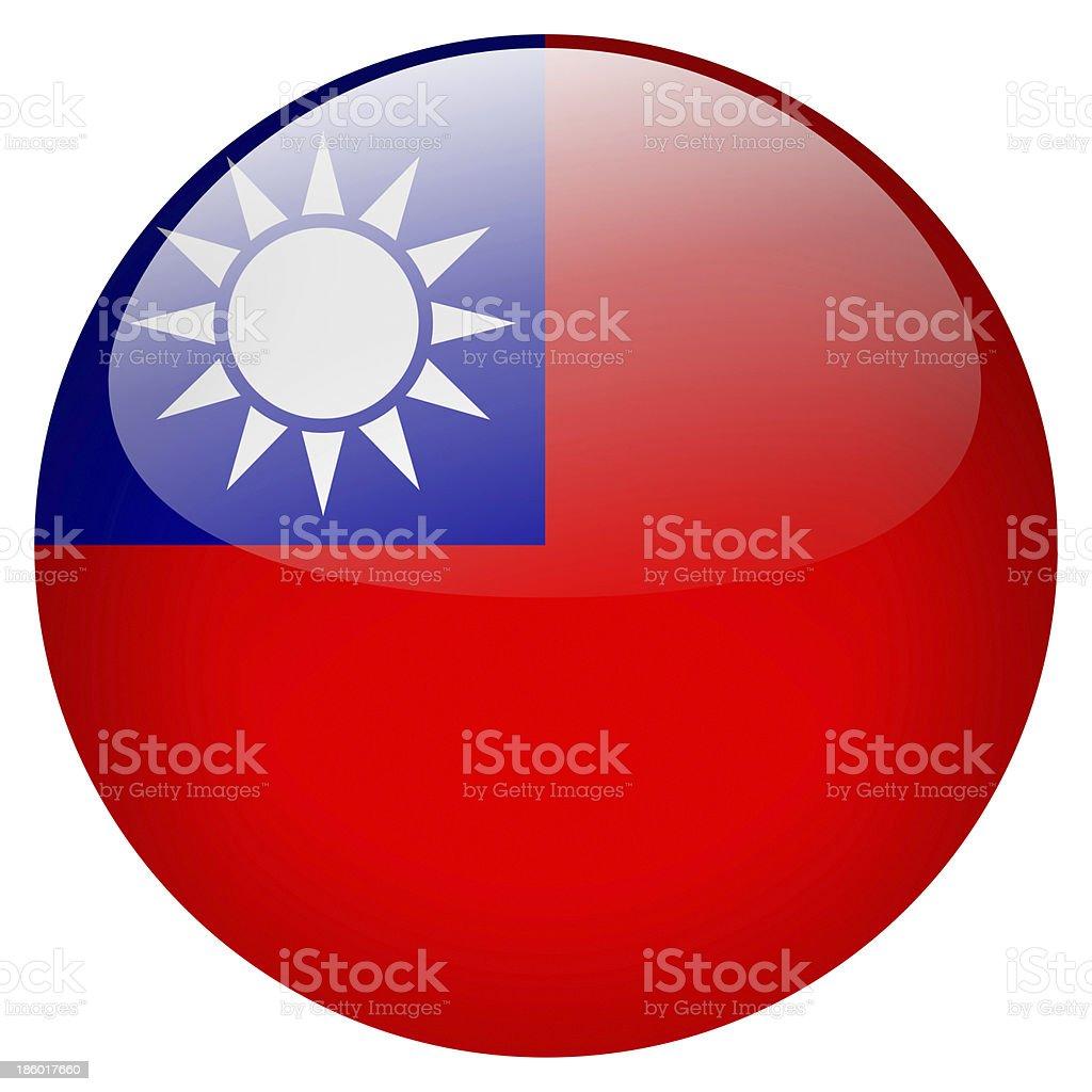 Taiwan button stock photo
