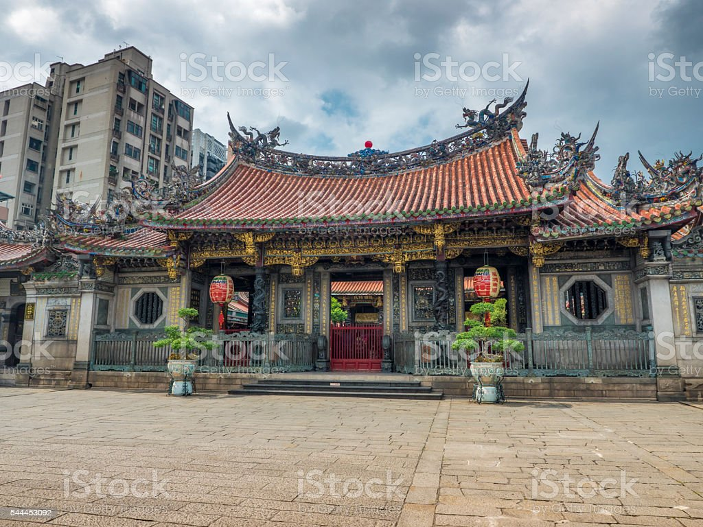 Taiwan Culture 03 Lungshan Temple stock photo