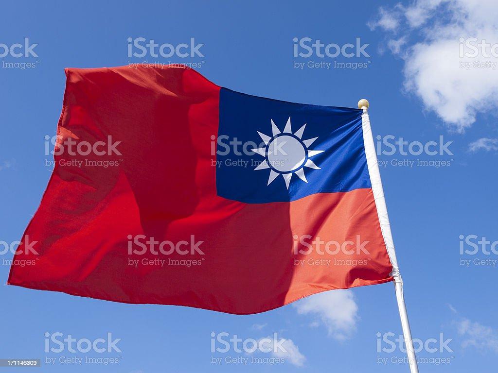 Taiwan Flag stock photo