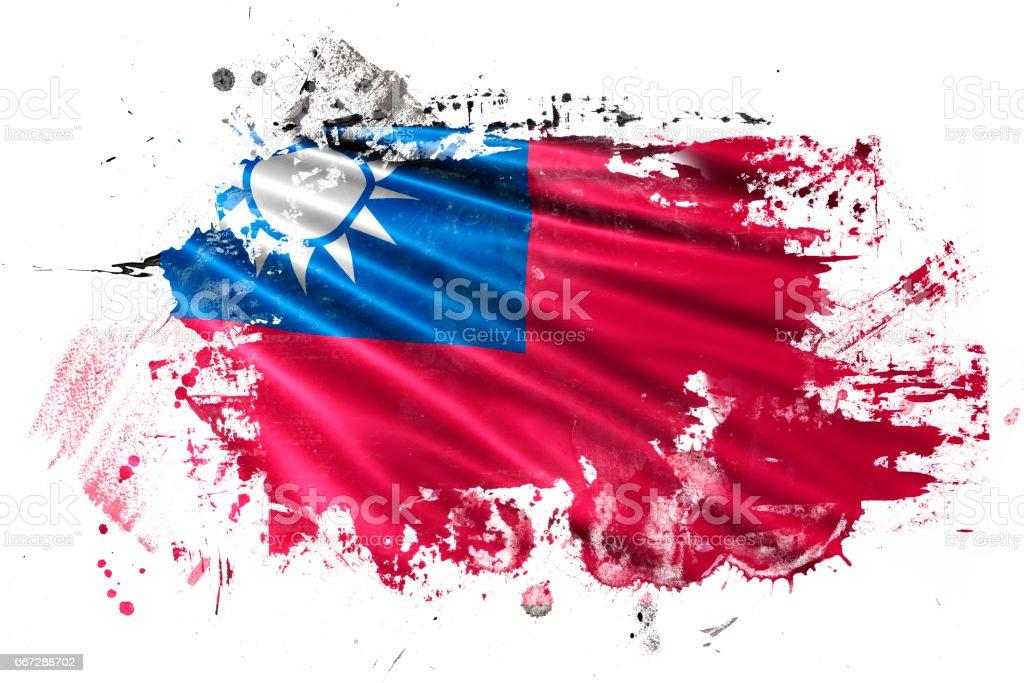 Taiwan Ink Grunge Flag stock photo