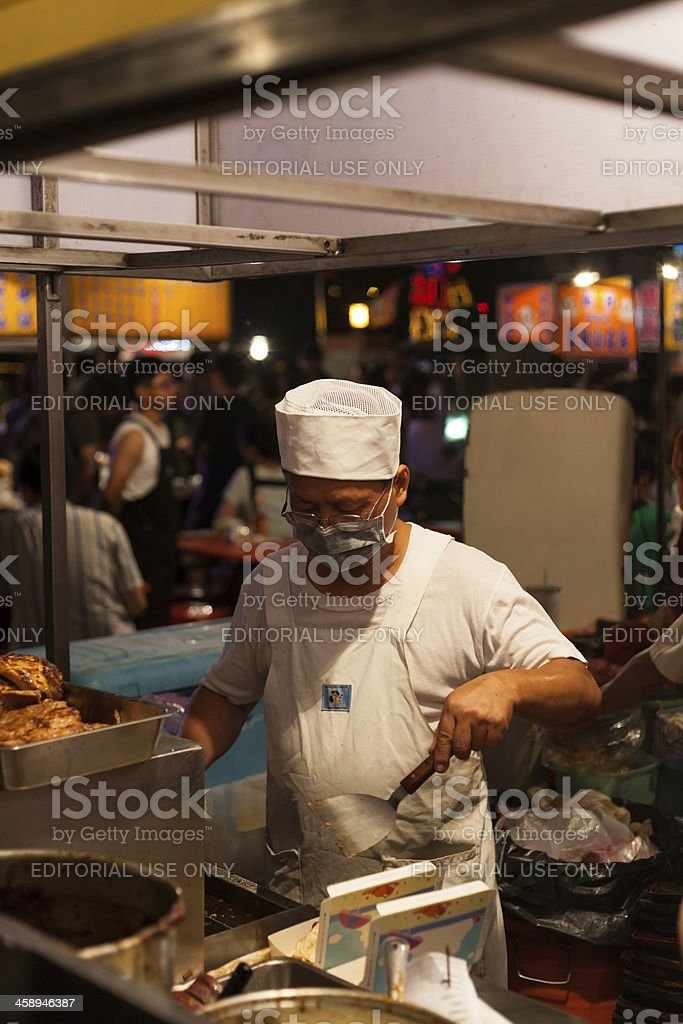 Taiwan Night Street Food Market royalty-free stock photo