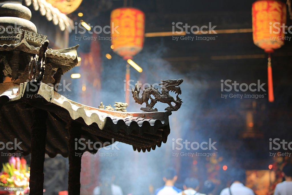 taiwan scenes: Taichung dajia mazu temple stock photo