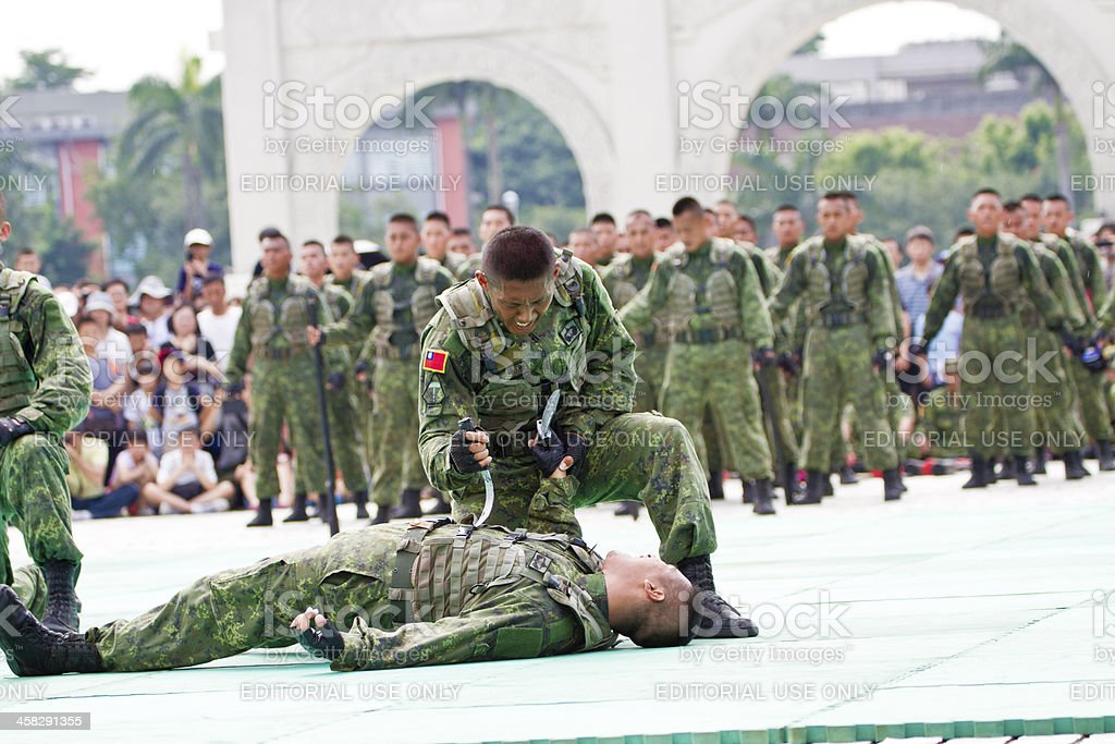 Taiwan special  force military display in chiang kai-shek memori royalty-free stock photo