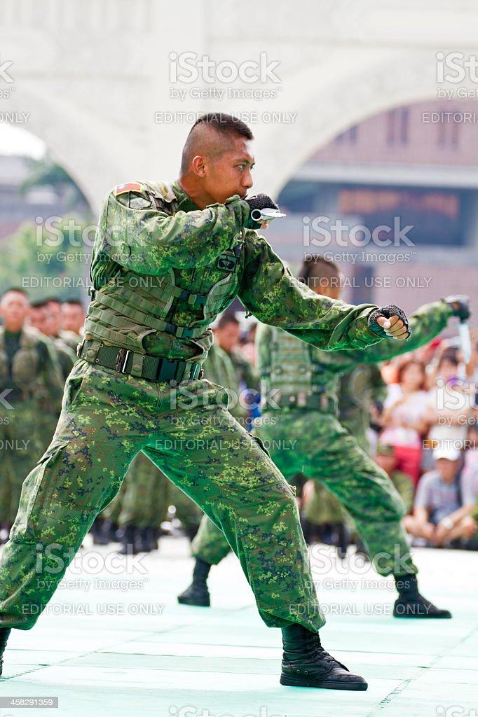 Taiwan special  force military display in chiang kai-shek memori royalty-free stock photo