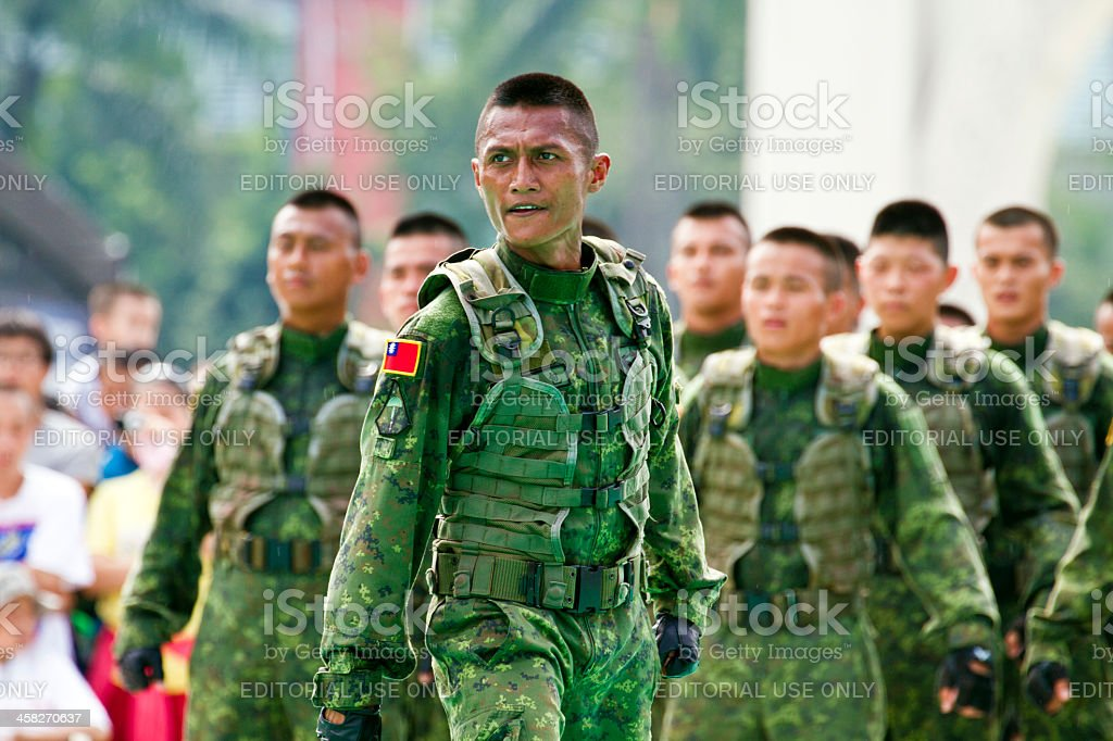 Taiwan special  force military display royalty-free stock photo