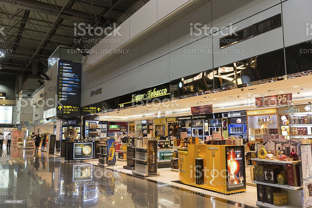 Taiwan Taoyuan International Airport stock photo