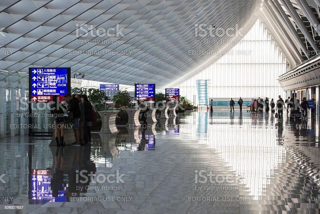 Taiwan Taoyuan International Airport stock photo