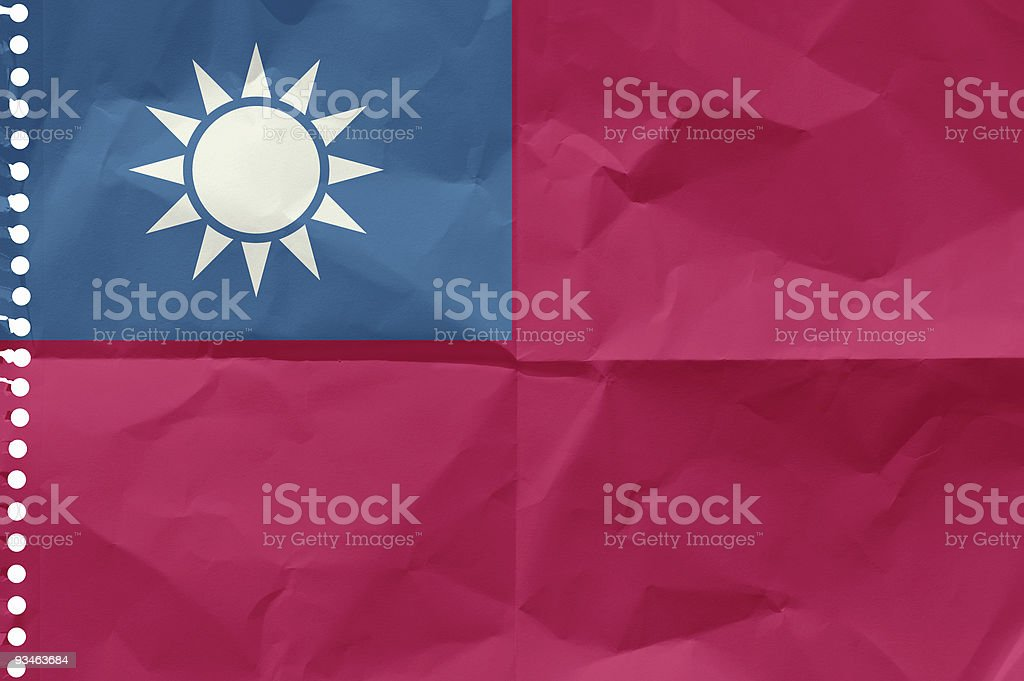 Taiwan, the Flag stock photo