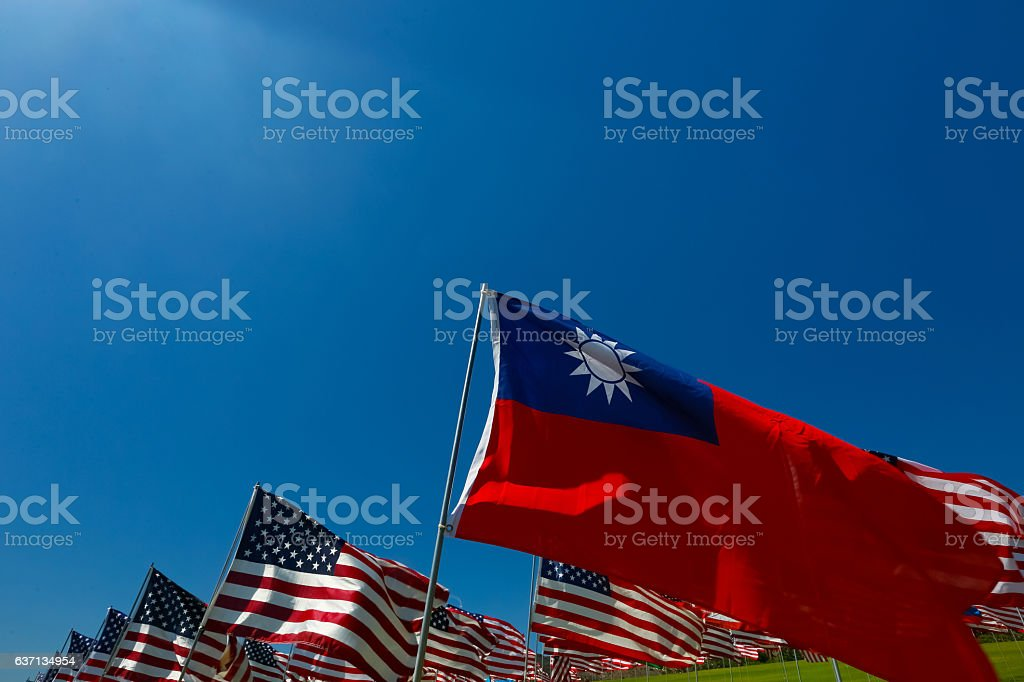 Taiwanese American Relations stock photo