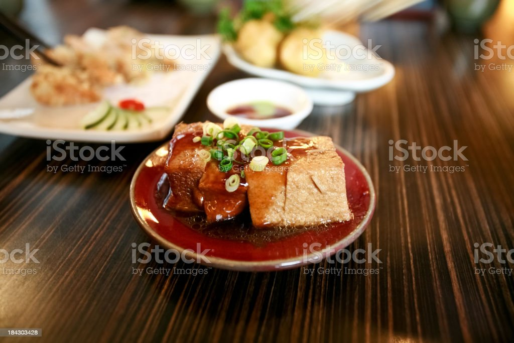 Taiwanese Deep Fried Stinking Tofu royalty-free stock photo
